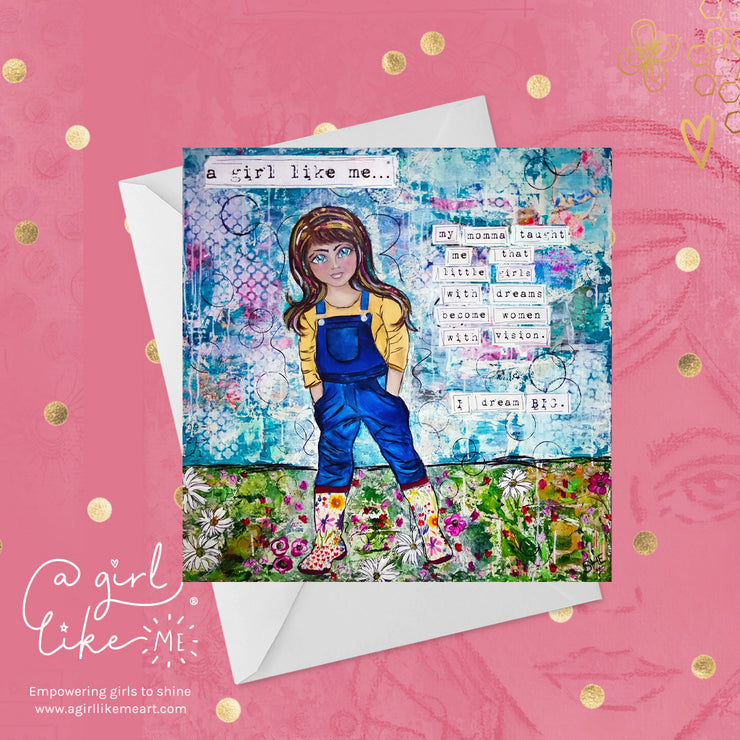 a girl like me...® big - greeting card