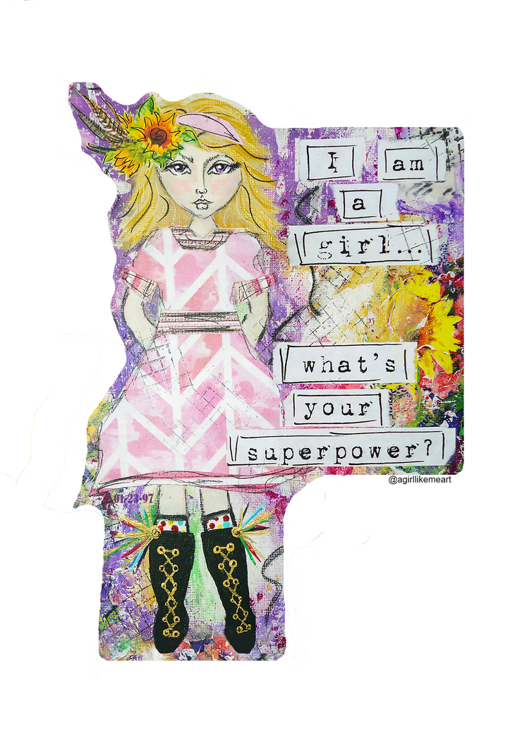 I Am A Girl. What's Your Super Power?  Die-Cut Sticker