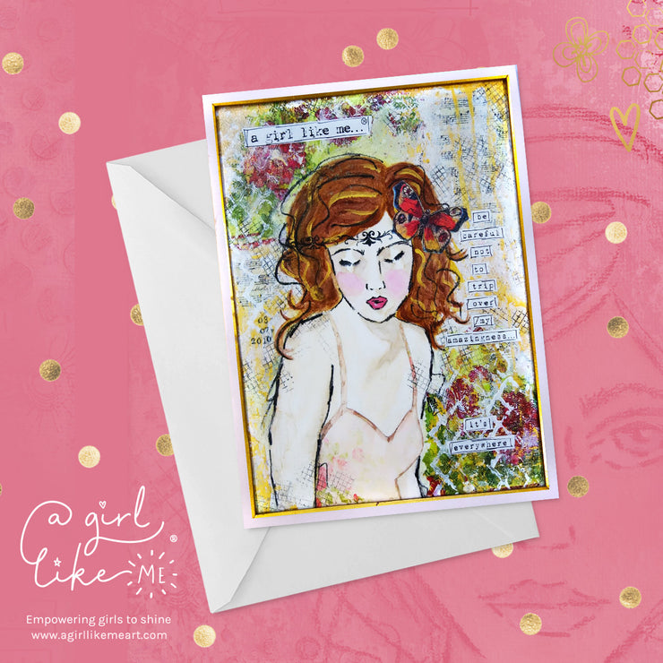 a girl like me...® amazingness - greeting card - A Girl Like Me Art by Sheila Mae