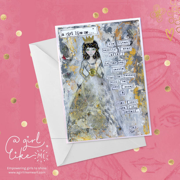 a girl like me...® castle2 - greeting card
