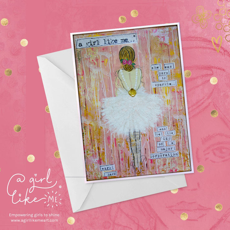 She Was Born To Sparkle And Be CEO - Greeting Card