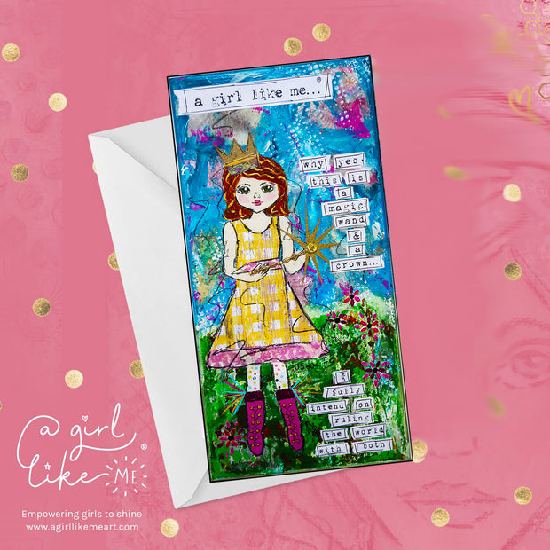 a girl like me...® crown - greeting card - A Girl Like Me Art by Sheila Mae