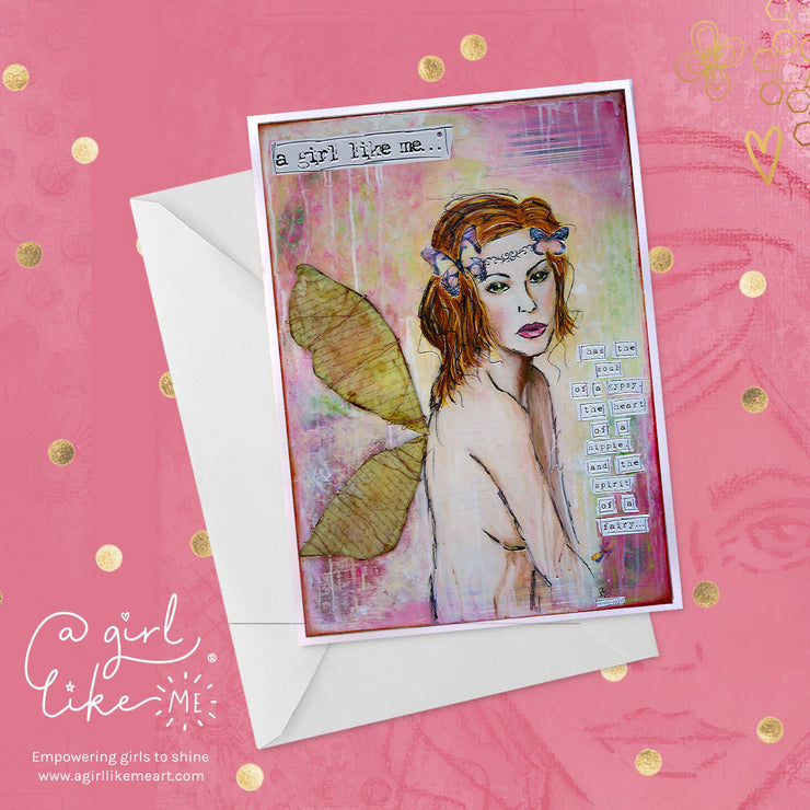 a girl like me...® fairy - greeting card