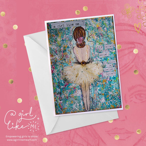 a girl like me...®football - greeting card - A Girl Like Me Art by Sheila Mae