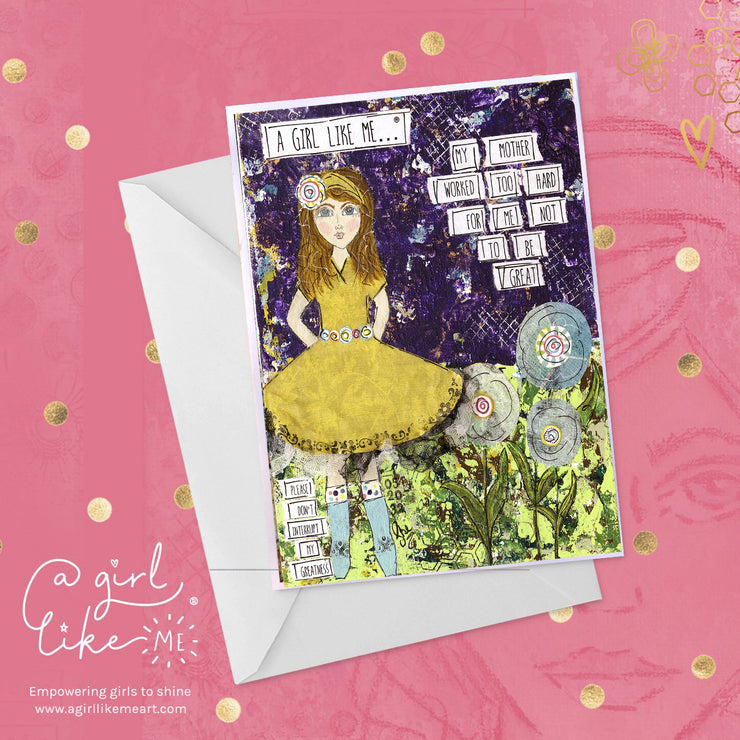 a girl like me...® great3 - greeting card