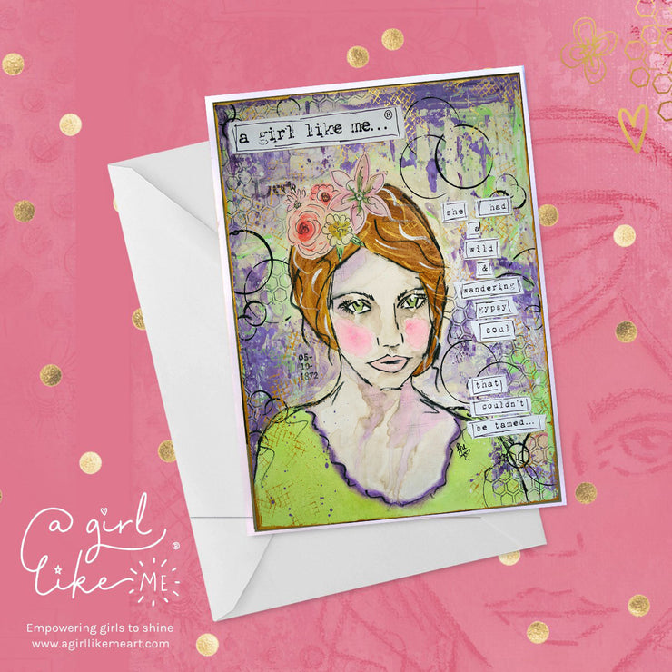 a girl like me...® gypsy2 - greeting card