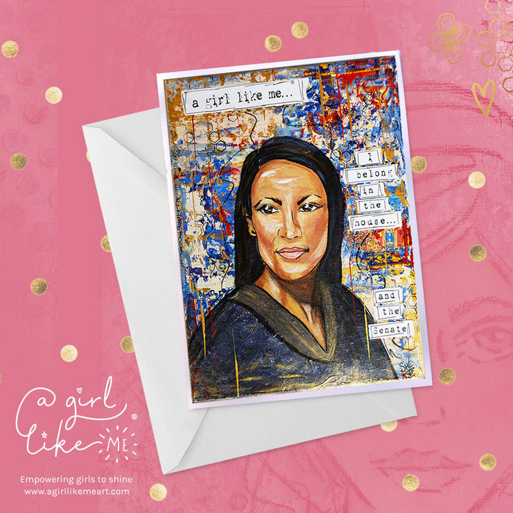 a girl like me...®house - greeting card - A Girl Like Me Art by Sheila Mae