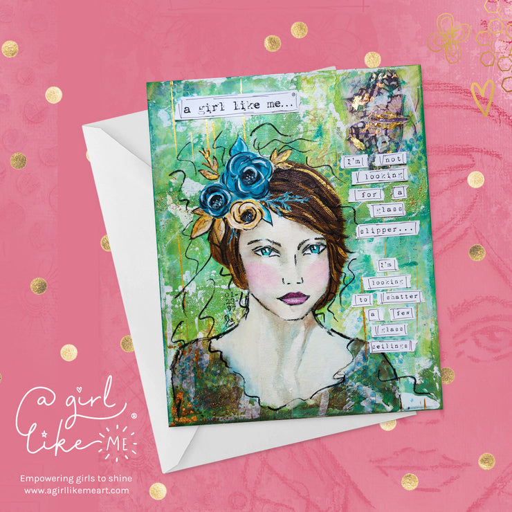 a girl like me...® shatter - greeting card - A Girl Like Me Art by Sheila Mae
