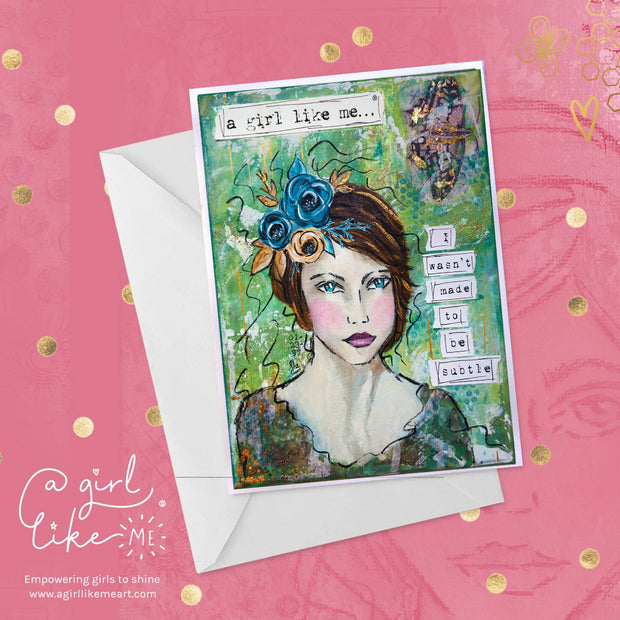 a girl like me...® subtle3 - greeting card