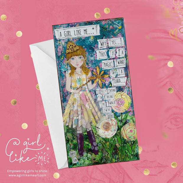a girl like me...® tiara - greeting card