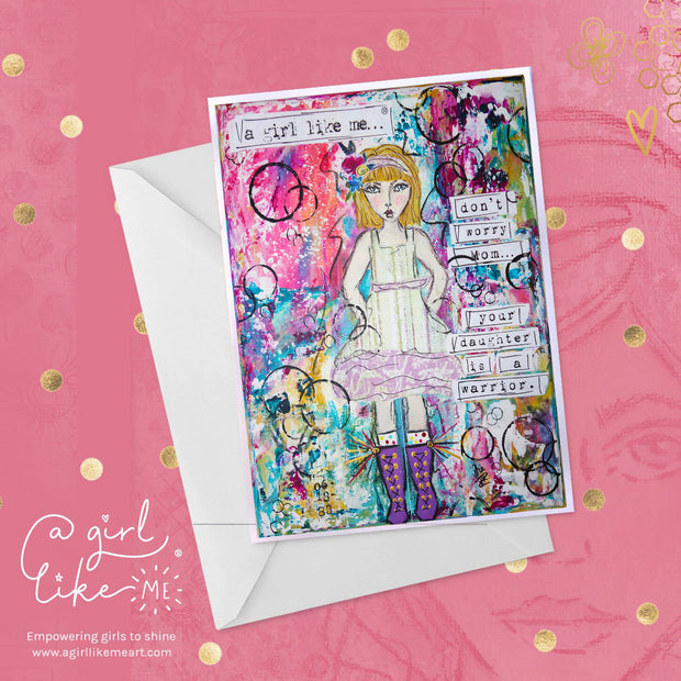 Empowering greeting card or birthday card for girls, tweens and teens