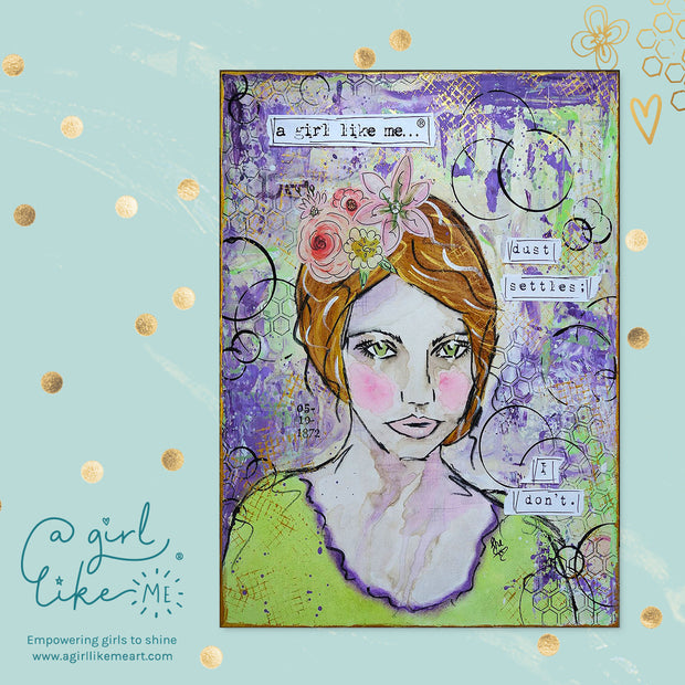 a girl like me...® dust - print - A Girl Like Me Art by Sheila Mae