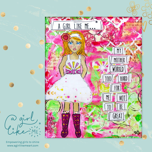 a girl like me...® great4 - print - A Girl Like Me Art by Sheila Mae