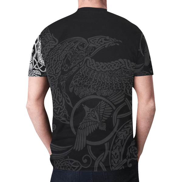 Viking T-Shirt -  Munin Tattoo Style A7