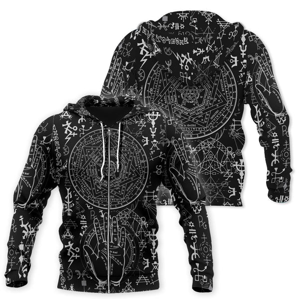 OCCULT SATAN 3D ALL OVER PRINTED HOODIE MP852