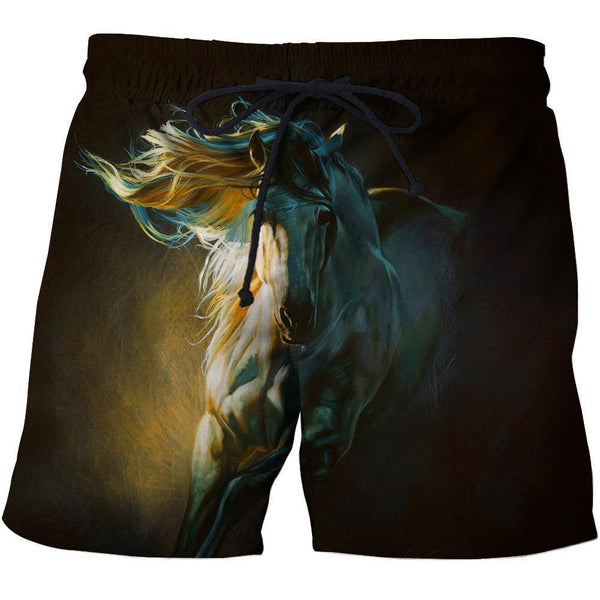 3D All Over Painting Horse By Moonlight  NK