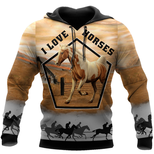 Beautiful Horse 3D All Over Printed shirt for Men and Women Pi080102
