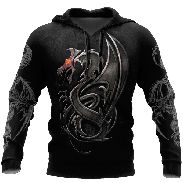 3D Armor Tattoo and Dungeon Dragon Hoodie HAC130102