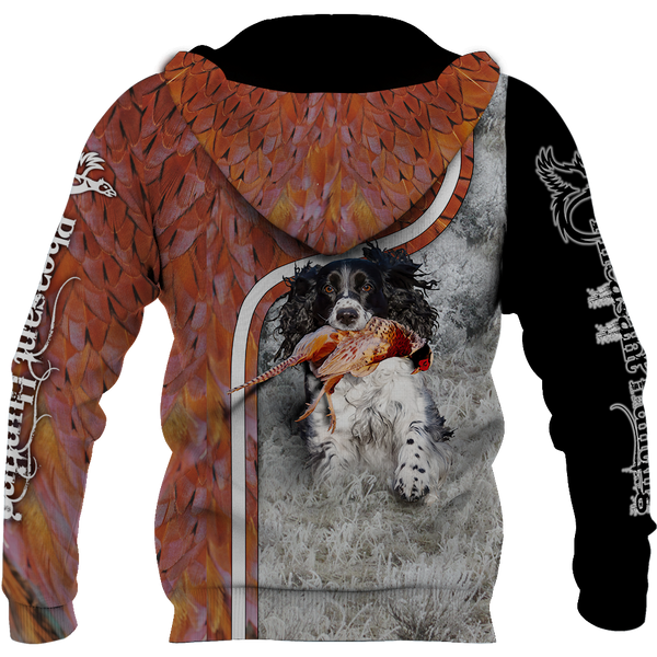 Pheasant Hunting Springer Spaniel 3D All Over Printed Shirts For Men And Women JJ180102