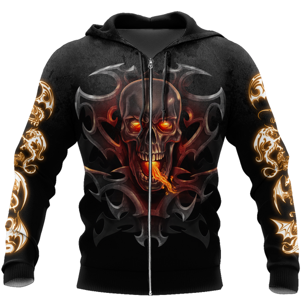 3D Armor Tattoo and Dungeon Dragon Hoodie HAC130101
