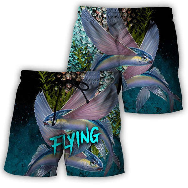 Flying fish on skin fishing 3D all over printing shirts for men and women TR040201