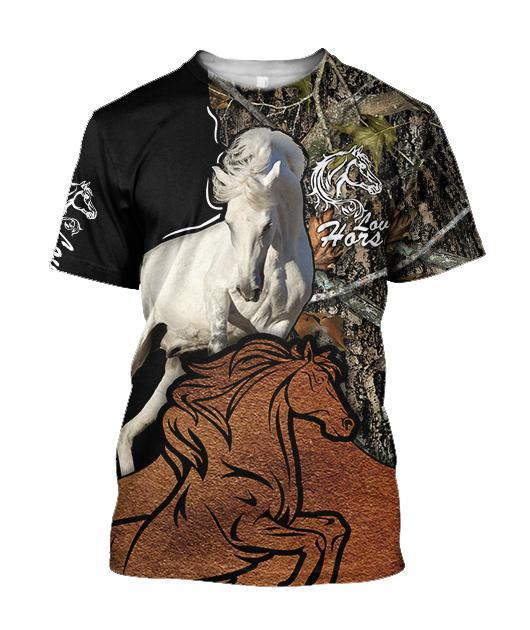 Beautiful Horse Shirt Muddy Design - Winter Set for Men and Women JJ101202