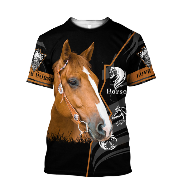 Beautiful Horse 3D All Over Printed shirt for Men and Women Pi040106