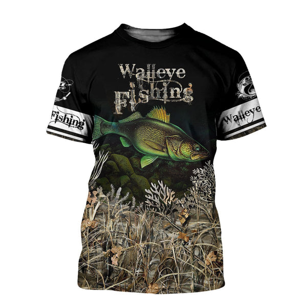 Walleye Fishing camo 3D all over printing shirts for men and women HC17703