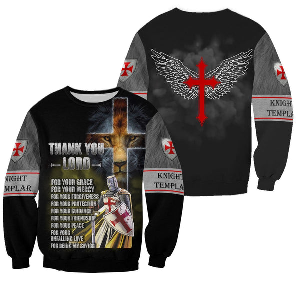 Brave Knight Templar 3D All Over Printed Shirts MP921