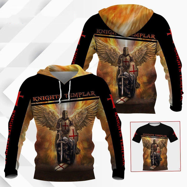 Knight Templar 3D All Over Printed Shirts MP935