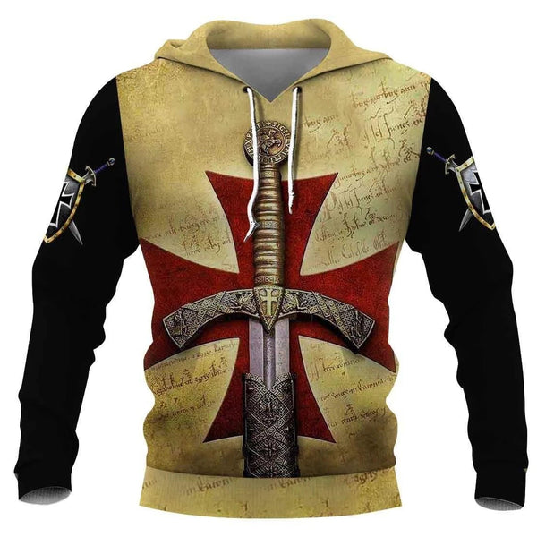 Knight Templar 3D All Over Printed Shirts For Men and Women MP946