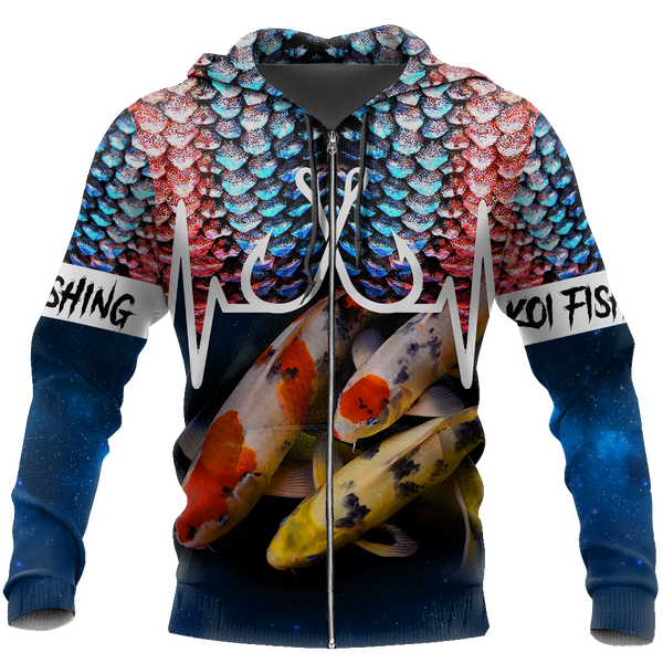 Koi Fishing Huk up 3D all over printing shirts for men and women TR110202