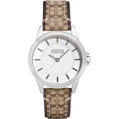 Coach 14501525 Ladies Classic Signature Brown Watch - Free Shipping -  Promenade Watches