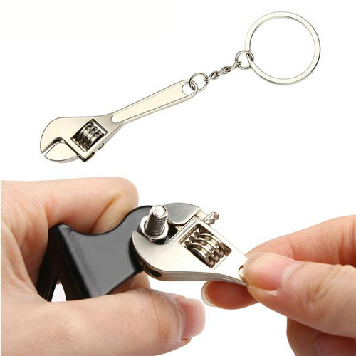 Adjustable Wrench Keychain