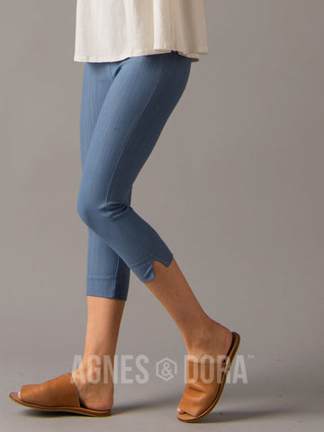Agnes & Dora™ Pixie Crop Light Knit Denim ONESIE SALE