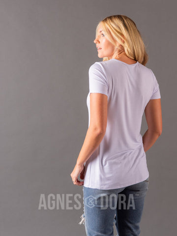 Agnes & Dora™ Fitted Tee White
