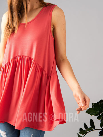 Agnes & Dora™ Sleeveless Muse Coral