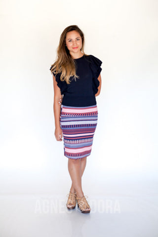 Agnes & Dora™ Rattled Lines Pencil Skirt  ONESIE SALE