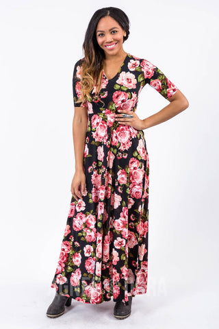 Agnes & Dora™ Maxi Dress Romeo & Juliet Black