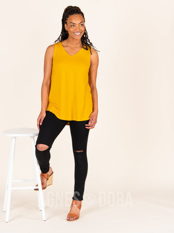 Agnes & Dora™ Essential Tank V-Neck Golden