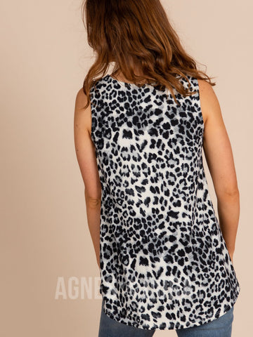 Agnes & Dora™ Essential Tank - Scoop Neck Grey Animal ONESIE SALE