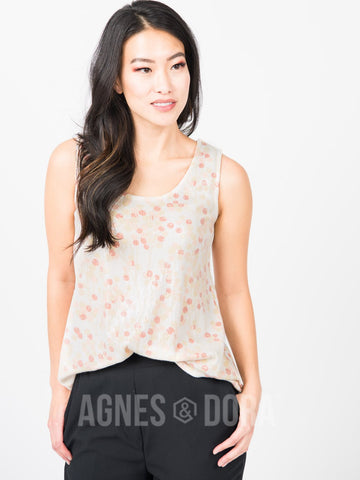 Agnes & Dora™ Essential Tank Sequin Holiday Berries - Cream