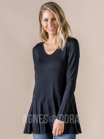 Agnes & Dora™ Fall In Line Tunic Black