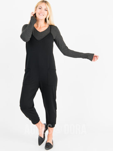 Agnes & Dora™ Everyday Jumpsuit Black ONESIE SALE