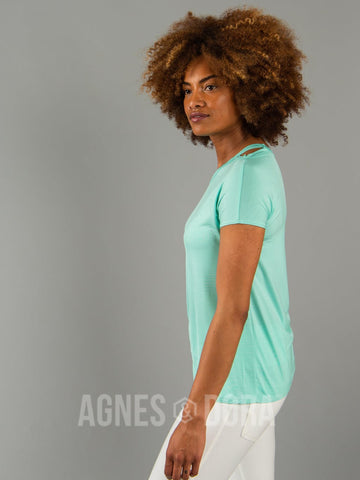 Agnes & Dora™ Cut Out Neckline Tee Mint