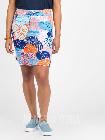 Agnes & Dora™ Live In Skirt Blue Leaf