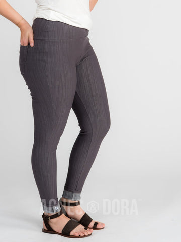 Agnes & Dora™ Knit Jeggings Gray