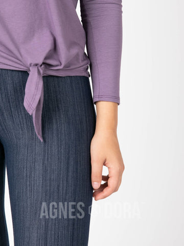 Agnes & Dora™ Afternoon Tee Long Sleeve Grape  ONESIE SALE