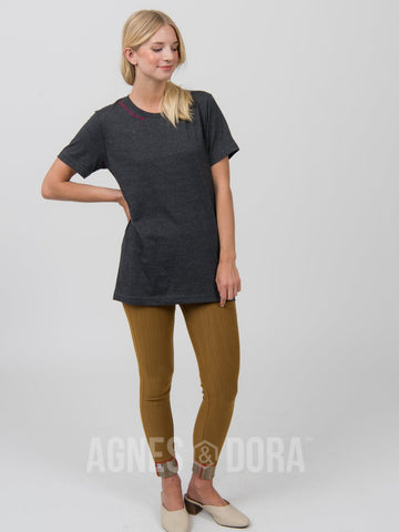 Agnes & Dora™ Vintage Graphic Tee Modern Matriarch Charcoal