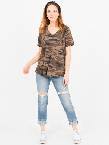 Agnes & Dora™ Love Top Coco/Black Camo